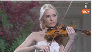 """Bocelli canta """"O sole mio"""" e """"Nessun dorma"""" per Xi e Mattarella"""