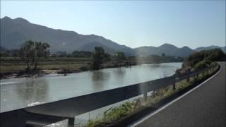 台風18号後の加古川の水位