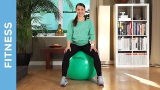 Pezziball Workout für Anfänger  - Übungen für den Rücken - Fit mit Anna - HD