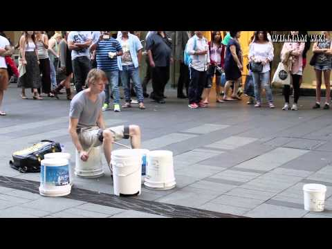 Awesome Street Drummer Will Have You Rocking
