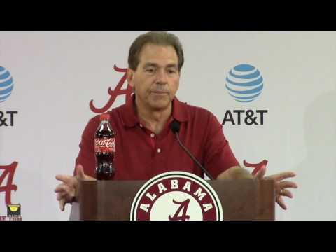 Watch Nick Saban launch Texas A&M week, Talk about Jalen Hurts, more