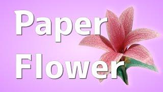 紙のお花ペーパークラフト工作作り方動画