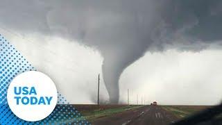 'Large, violent' tornado rips through Oklahoma | USA TODAY