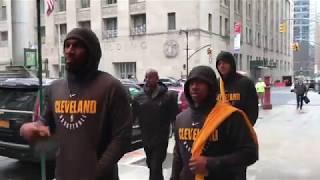 The Cavaliers take NYC Subway - November 13, 2017