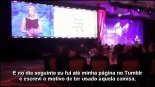 Dianna Agron Faz Discurso Sobre Homossexuais No GLAAD Awards 2012 - Parte 2 (legendado)
