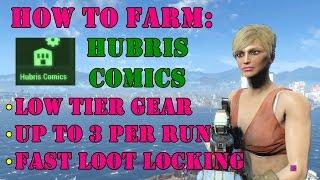 Fallout 4: How to Farm Hubris Comics (Low Tier Loot Locking)