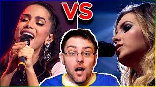 Gringo Reagindo A Sandy + Anitta   Quando Você Passa | Quem Canta MELHOR?