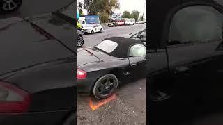 Видео с места аварии Porsche и Mitsubishi в Кишинёве