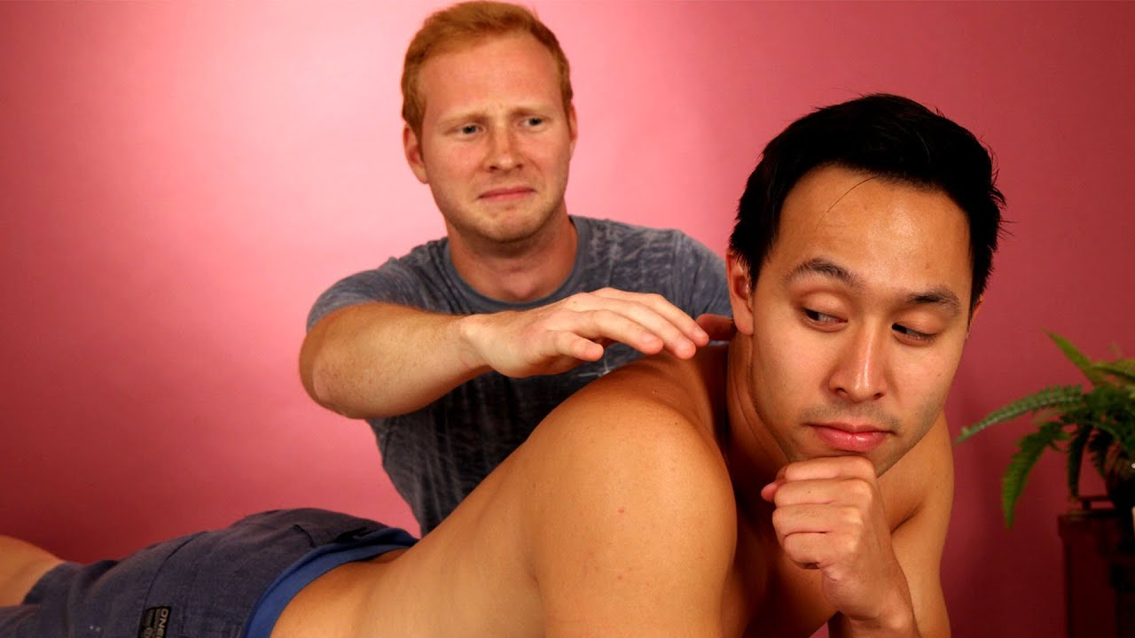 Guy Friends Massage Each Other For The First Time thumbnail