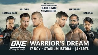 🔴 [Live in HD] ONE Championship: WARRIOR