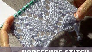Knitting Horseshoe Lace Stitch (CC)