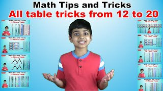 Learn 12 to 20 Times Multiplication Tricks | Easy and fast way to learn | Math Tips and Tricks