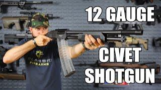 SDS Imports Civet 12GA Mag Fed Pump Action Shotgun Black Synthetic - W / Three 10 Rd Bonus Mag Pack - Limited Time Offer