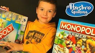 Монополия Геймер - Monopoly Gamer от Hasbo - Распаковка и Обзор Настольная игра Марио