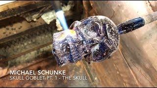 Glass artist Michael Schunke creates a Skull Goblet Pt. 1 - The Skull
