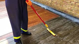 How to clean decking with electric jet wash part 1