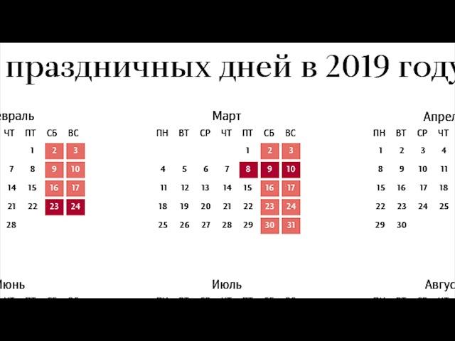 Как будем отдыхать в 2019-м?