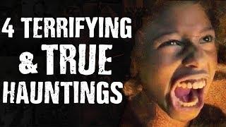 4 TERRIFYING Ghosts & True Hauntings