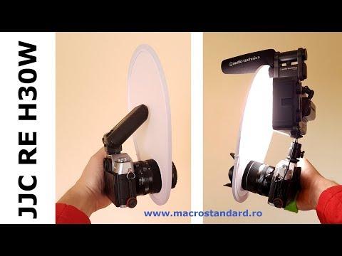 Cum poti utiliza in filmare difuzorul universal pentru blit JJC RE H30W