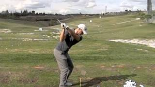 Alex Noren Golf Swing In High Speed From Down The Line