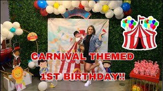 CARNIVAL THEME FIRST BIRTHDAY PARTY!!! 🎡🎂+DECOR (BEFORE AND AFTER) *2020*