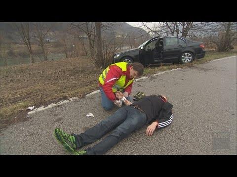 Erste Hilfe am Unfallort