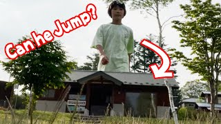 Jump a House funny vfx video | Viral magic video #SHORTS