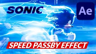 SONIC Lightning Speed PASS BY Effect in After Effects Tutorial