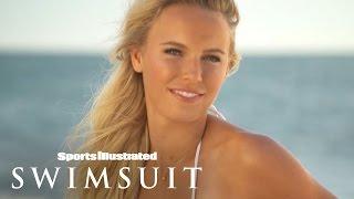 Ronda Rousey & Caroline Wozniacki behind The Tanlines | Sports Illustrated Swimsuit