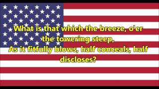 National anthem of the United States of America (lyrics)
