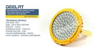 Maintenance Free Energy Saving Explosion Proof LED Lamps - 80W 270 x 350 x 350 mm