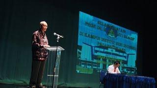 Kuliah Umum Bersama Prof Dr Ahmad Syafii Maarif Di ISI Padangpanjang