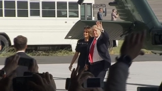 Trump Arrives at US Air Base in Italy