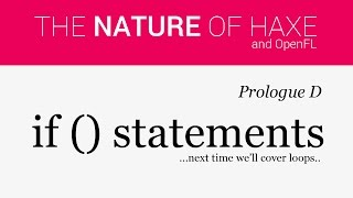 Prologue D - If Statements