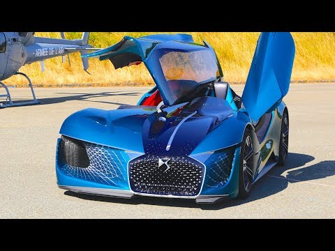 WEIRD! DS Self Driving Electric 2 Cars In 1 Sportscar 3 Seater 2035 DS X E-TENSE Paris