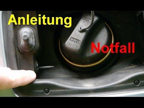 Tankdeckel im Notfall öffnen  BMW E90