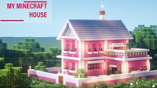 MINECRAFT: How To Build A Lovely Pink House Super Simple #80