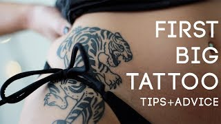 First Big Tattoo Experience Hip Tips And Advice // Holly Burleson