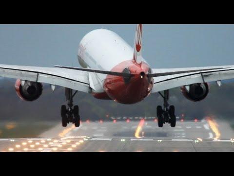 شاهد كيف تهبط الطائرات مع الرياح القوية