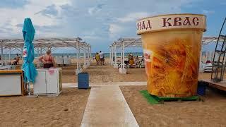 Анапа. Погода. 19.07.2018 ГДЕ ЛЮДИ? Пляж Venera Resort..