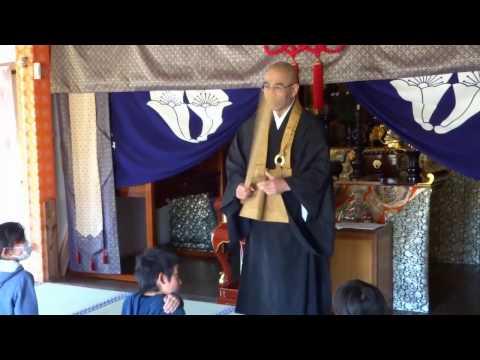 大聖寺_座禅会と炭焼き体験(犬飼小学校)