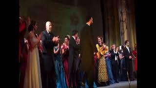 """Duartrokitjet e shfaqjes """"La Traviata"""" 4 nëntor 2017, në teatrin e qytetit të Korçës"""