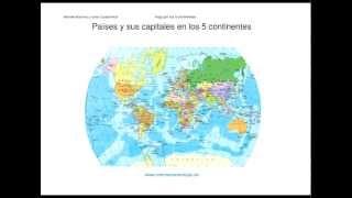 Los países y sus capitales