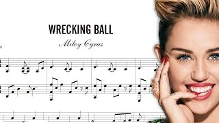 DESCARGAR Partitura de MILEY CYRUS, Wrecking Ball, (DOWNLOAD Score)