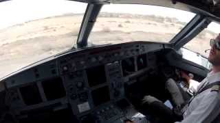 preview picture of video 'Djibouti HDAM Cockpit view Visual approach rwy 09'