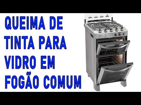Quiema de tinta: fogão comum