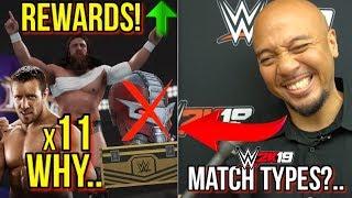 WWE 2K19: INTERVIEW w/ @WWE2KDev! (Alt SLOTS, Match Types, NEW REWARDS, & #WWE2K19 CHANGES!)