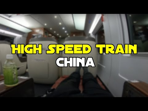 Business Class on a Chinese High Speed Train