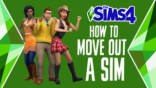 How to Move Sims Out of Your House (Perfect for Aging Up to Young Adult) 📦🏡