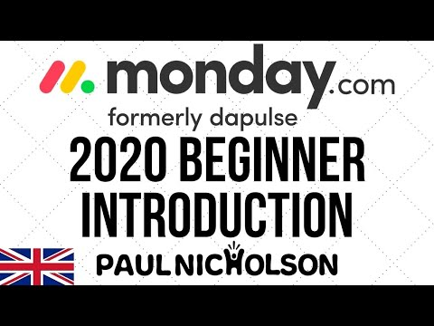 Monday.Com 2020 Beginner Introduction Training Tutorial - YouTube